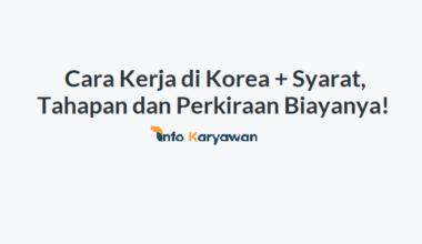 Cara Kerja di Korea : Kelebihan, Syarat, Tahapan dan Perkiraan Biayanya!