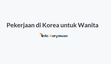 Pekerjaan di Korea untuk Wanita Cocok Bagi TKW & TKI